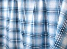 2½ Yards, Cotton Fabric. Madras Plaid. Woven Tartan. Blue, Navy, White