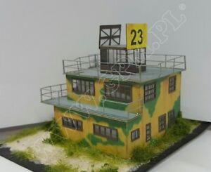 WW2 RAF Airfield Control Tower 1:144 scale Model Kit (LASERCUT PARTS) PREPAINTED