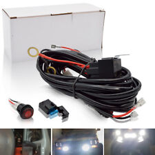Safego LED Light Bar Wiring Harness Kit 12V 40Amp Fuse Relay ON/OFF Switch