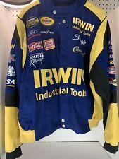 NASCAR 100% Cotton Irwin Sponsor Jacket - Rousch Racing Team Caliber - Size XL