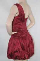 New Women's Bcbg max azria One Shoulder Red Bubble  Dress SZ 10 Prom Dress