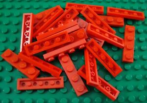 LEGO Lot of 25 Red 1x4 Classic Building Plate Pieces