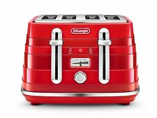 DeLonghi Cta4003.r Avvolta 4 Slice Toaster 1800w 2 Year Red