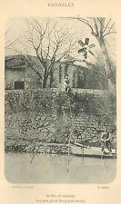 07 BOURG-SAINT-ANDEOL PECHE FLUVIALE AU CARRELET IMAGE 1900 OLD PRINT