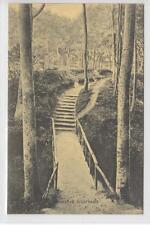 AK Scharbeutz, Waldweg mit Holzbrücke, 1905