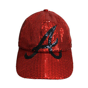 Atlanta Braves MLB Red Sequence Women adjustable baseball cap