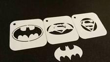 SUPERHERO Set of 3pcs Stencils BATMAN SUPERMAN SPIDERMAN Kids Party Face Paint
