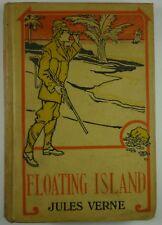 c1897 Jules Verne FLOATING ISLAND Hurst CITY-SHIP of MILLIONAIRES Sci-Fi Novel