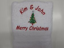 Personalised Christmas Hand Towel