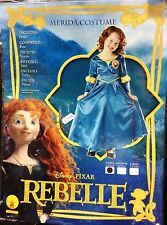 CARNEVALE HALLOWEEN RIBELLE MERIDA REBELLE DISNEY TAGLIA 3/4 ANNI ORIGINALE