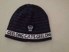 Official AFL Geelong Cats Acrylic Knit Navy Blue Word Print Beanie
