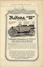 1911 Moline 35 Touring Car Ad/ Chicago Trophy 1910 Glidden Tour