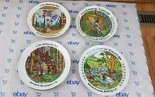 Vintage Handarbeit Bavaria Decorative Plate Fairytale Story Art Wall Hanger LOT