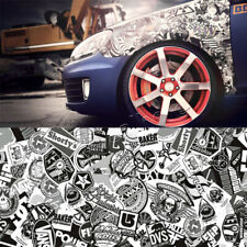 150 50cm Black&White Cartoon Graffiti Car Truck Sticker Bomb Wrap Sheet Decal