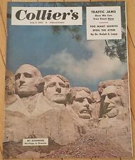 COLLIERS MAGAZINE JULY 5 1952 MT RUSHMORE ATOM TAFT EISENHOWER IKE MARIO BRAVO