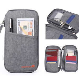 Family Travel Wallet Passport Holder Organizer Document Pouch Bag Cards