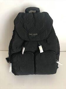 NWT!!Kate Spade jayne large Nylon backpack In Black (sale)