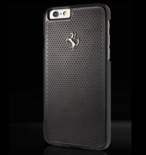 Ferrari perforata in alluminio Piastra Back Case per iPhone 6 Plus - 6S Plus Nero