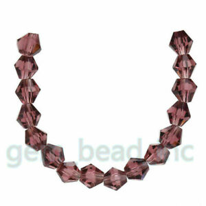 8mm Bicone Crystal Glass Loose Beads Jewelry Findings Charms 50Pcs DIY
