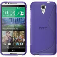 Silicone Case for HTC Desire 620 S-Style purple + protective foils