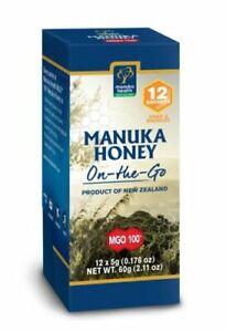 Manuka Health MGO™100+ Manuka Honey Snap-Pack - Pack of 12 - On the Go