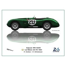 Print on paper Jaguar XK-120C #20 Walker / Whitehead Winners 24h LM 1951