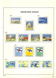 [OP5327] Dutch Antilles lot of stamps on 12 pages