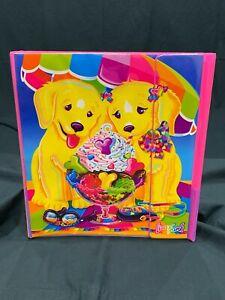 New Vintage Lisa Frank Casey Candy Dog Tri Fold Binder Set + Folder & Stickers