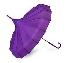Lindy Lou  Umbrella Purple PolkaDot trim.
