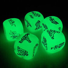 Glow in the Dark Sexy Dice Game Toy For Bachelor Party Adult Couple Novelty Gift