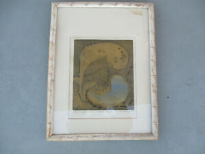 """Lithograph by listed artist NANTANDY, 1965, titled """"Beginnings"""", ARTISTS PROOF."""