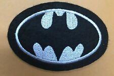 Vintage Original Batman B&W Logo Rare Embroidery Patch Unused