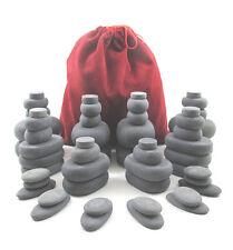 MassageMaster HOT STONE MASSAGE SET: 54 Basalt Stones in Drawstring Bag