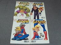 Lot Of 4 The Marvelous Adventures Of Gus Beezer- Spiderman/ Hulk Marvel Comics