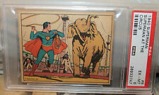 1940 GUM INC SUPERMAN TRADING CARD #9 AT THE CIRCUS PSA 6 EXCELLENT-MINT