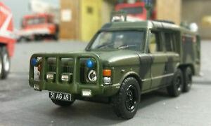 1:76 Oo Range Rover Carmichael Commando 6x4 Aérodrome Choc Secours Modèle TACR2