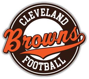 "Cleveland Browns Logo NFL Sport Car Bumper Sticker Decal ""SIZES''"
