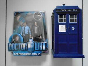 DR DOCTOR WHO THE ELEVENTH DOCTORS CRASH FIGURE SET & FLIGHT CONTROL TARDIS.