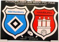 2 Auto Aufkleber auf Bogen + Hamburg + Stadt + Verein Hamburger SV + RAR #201827