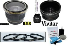 Hi Def 58mm Wide Angle Fisheye Close-up Macro Lens and Cleaning Kit for Canon