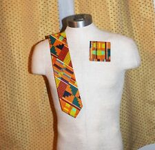 Kente Necktie and  handkerchief set - Style #2