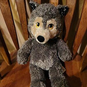 "Build-A-Bear Howl-O-Ween Werewolf 17"" Glow in the Dark Moon & Stars Gray Wolf"