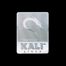 Powered by KALI Linux Metal Decal Sticker Case Computer PC Laptop Badge
