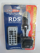 CALIBER CAR 12/24V FM TRANSMITTER WITH USB 1.1 & SD SLOT INC RDS, LCD & REMOTE