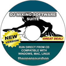 Pro DJ Mixing Studio CD Software Package - Create New Mixes Like A Professional