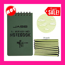 New listing 10 Pack Waterproof Notebook, 3 x 5 Inches Pocket Notepad, All-Weather Memo Pads