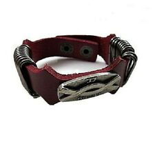 New Diesel Genuine Leather Infinity Bracelet - Brown