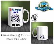 Suzuki GSX-R750 Motorbike Personalised Ceramic Mug Gift (MB041)