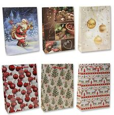 24 große Geschenktüten Weihnachten Weihnachtstüten Geschenktasche MIX 63333 AM