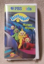 TELETUBBIES - NURSERY RHYMES Vhs Video Tape 60 Minutes PBS KIDS Actimates VGC